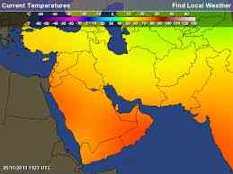 heat map of world