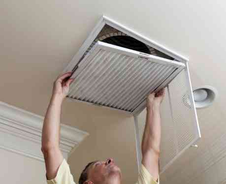 repairing central air conditioner