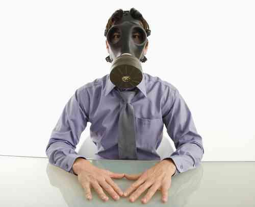 Masked Man Indoors